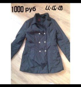 Продам утеплённую куртку плащ