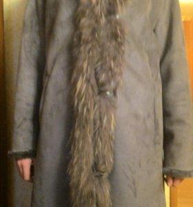 Пальто- дубленка