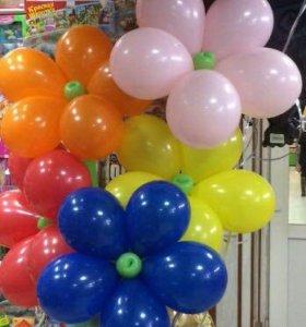 Цветы из шаров.