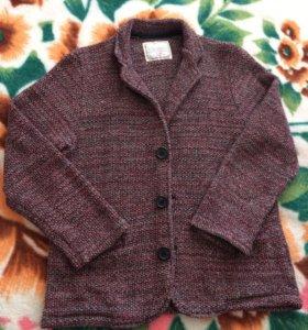 Вязаный пиджак для мальчика