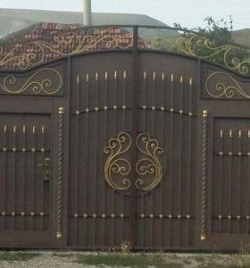 Ворота распашные изготовление