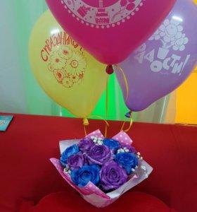 Цветы и шарики в Кузьмолово