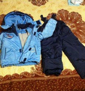 Костюм зимний куртка и комбинезон