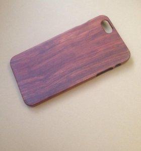 Деревянный чехол на iPhone 6 plus