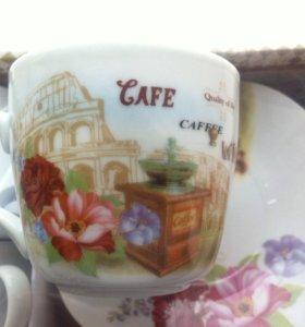 Кофейный сервиз (6 пар)