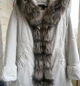 Пальто зимнее на кроличьей подкладке