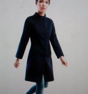 Пальто Pompa черное 46 размер
