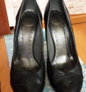 Туфли на шпильке натуральная кожа