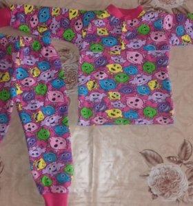 Пижама 2-3г новая