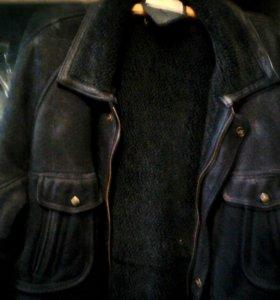 Куртка зимняя,нубук.