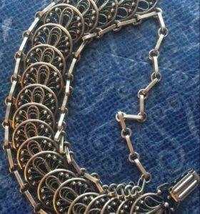 Серебро 925 браслет 65 гр филигрань ( скань )