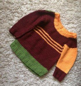 Вязаный свитер на 2 года