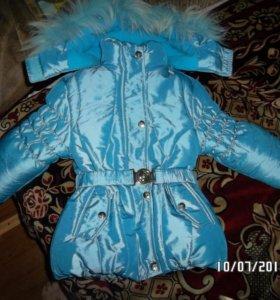 Куртка зимняя на девочку 3 - 3.5 года