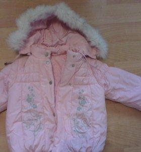 Куртка зимняя на девочку 3-4 года