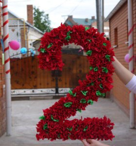 Объемные цифры и буквы к Вашему празднику