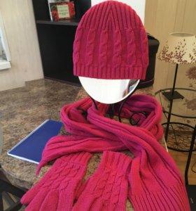 Шапка и варежки , шарф