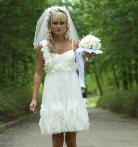 Продам необычное свадебное платье !