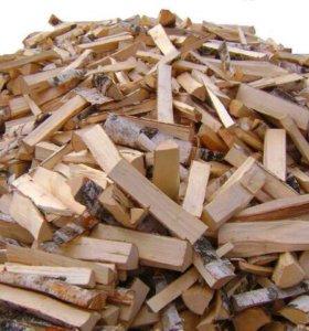 Колотые дрова ёлка и липа 5 кубов