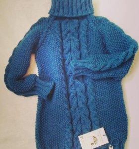 Удлиненный свитер,платье!Со скидкой!