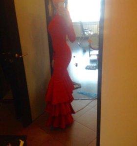 Платье Красное в пол,длинное,вечерне love republic