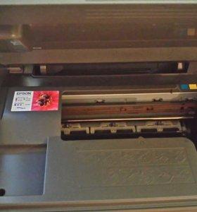 Принтер мфу Epson Stylus CX3900 + набор чернил