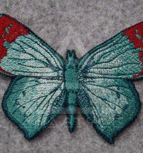 Нашивка Бабочка бирюза