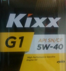 Масло kixx 5w40 4 л
