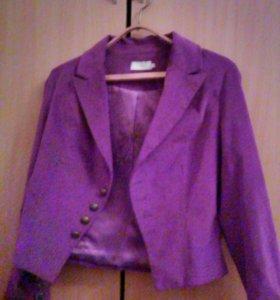 Kaffe Cream пиджак женский фиолетовый новый р. 48