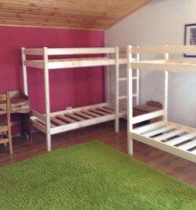 Двухъярусные деревянные кровати (новое)
