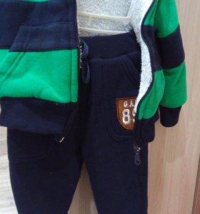 Детские утепленный костюм