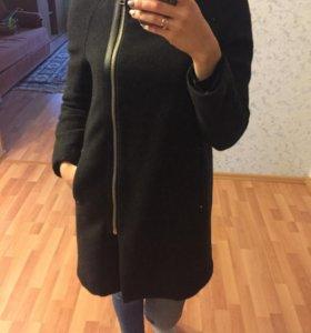 Пальто MANGO шерстяное