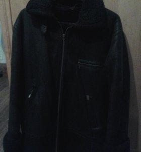 Куртка зимняя, дублёнка! С капюшоном!