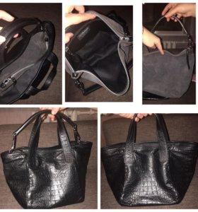 Новая сумка из натуральной кожи питона