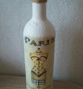 Бутылочка  для декора