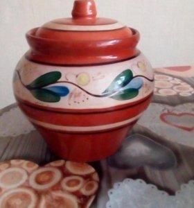 Горшок глиняный для духовки