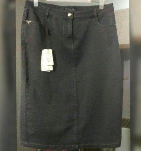 Юбка джинсовая новая раз. 52-54