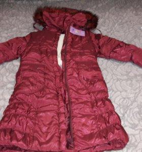 Пальто зимнее новое 134