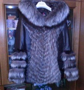 куртка пуховик  44-46 раз