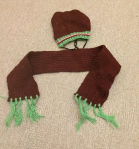 Шапка и шарфик для собаки
