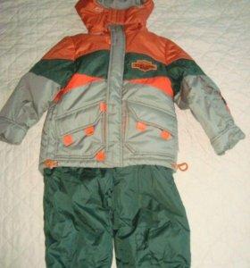 Новый комплект куртка +полукомбинезон