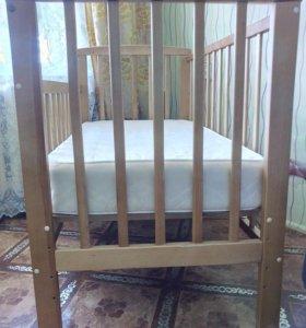 Кроватка и матрац премиум
