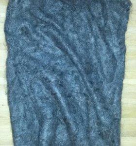 Теплый вязаный пуховый жилет-безрукавка