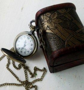 Карманные часы в винтажной подарочной коробке