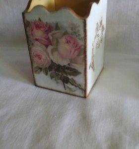 Карандашница Винтажные розы