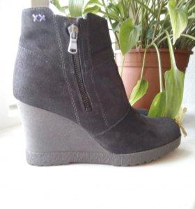 MEXX осенние ботинки из натуральной замши и кожи