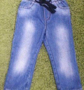 3 пары джинс и брюки 98-101
