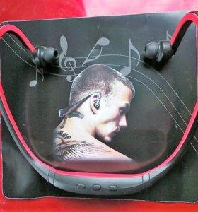 Беспроводные наушники Bluetooth + TF ( микро SD)