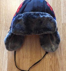 Зимняя шапка на 5-6 лет, р. 50-52
