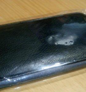 Кожаный чёрный чехол для Samsung Galaxy S3 i9300