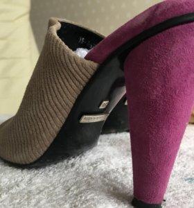 Туфли замшевые, 35-36 размер